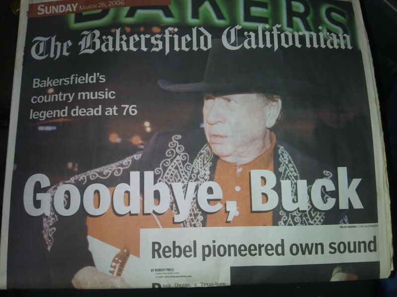 It is the write up in the bakersfield californian news paper on buck owens death