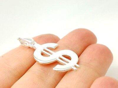 TURKISH JEWELRY 925 STERLING SILVER HANDMADE MONEY DOLLAR SIGN PENDANT US SELLER ()