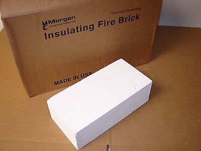 "Morgan Insulating Fire Brick JM28 Wedge 9x4.5x3"" Kiln (Box of 10 bricks)"