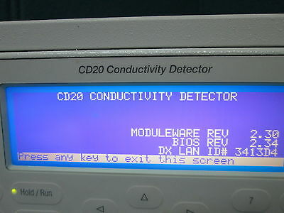 Dionex Cd20 Conductivity Detector Model Cd20-1 Powers On