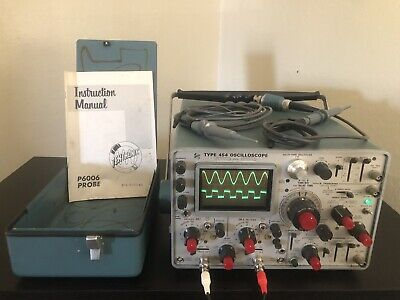 Tektronix 454 Type 454 Oscilloscope 150mhz With Probes Manual Cover - Working