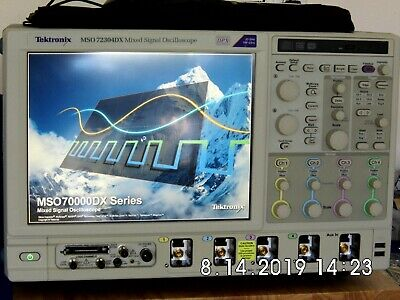 Tektronix Mso72304dx 23ghz100gss 416 Channel Mixed Signal Oscilloscope
