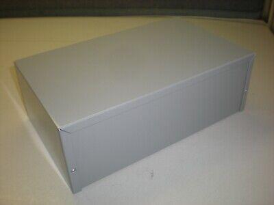 Bud Enclosureproject Box - 10x6x3-12 - Gray Finish - Nnb
