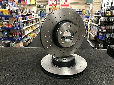 Genuine Apec Front Vented Drilled  High-Carbon Brake Discs 340MM FOR BMW