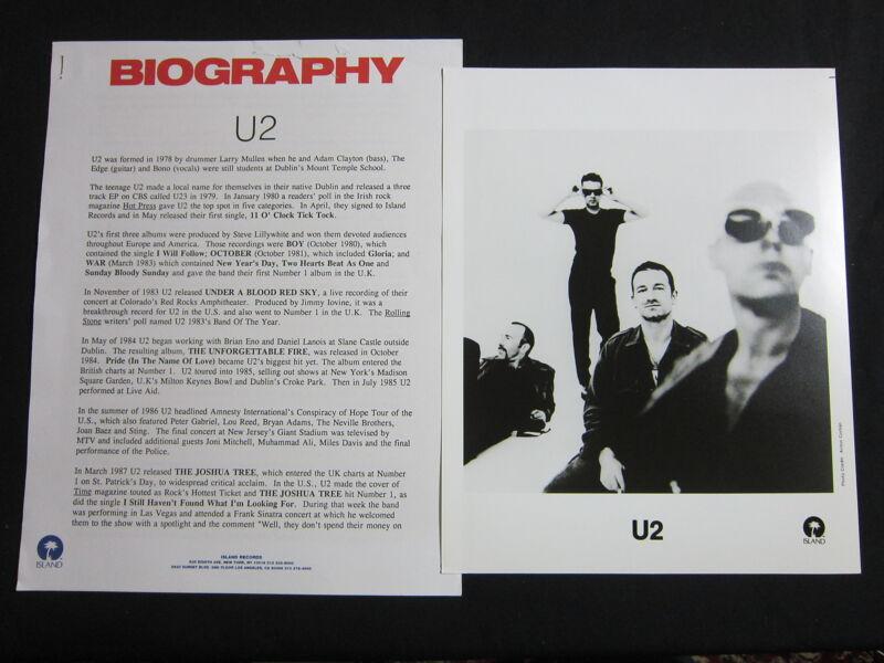 U2—1995 PRESS KIT--PHOTO