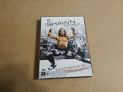 SHAWN MICHAELS HEARTBREAK & TRIUMPH 3 DISC DVD WRESTLING WWF WWE