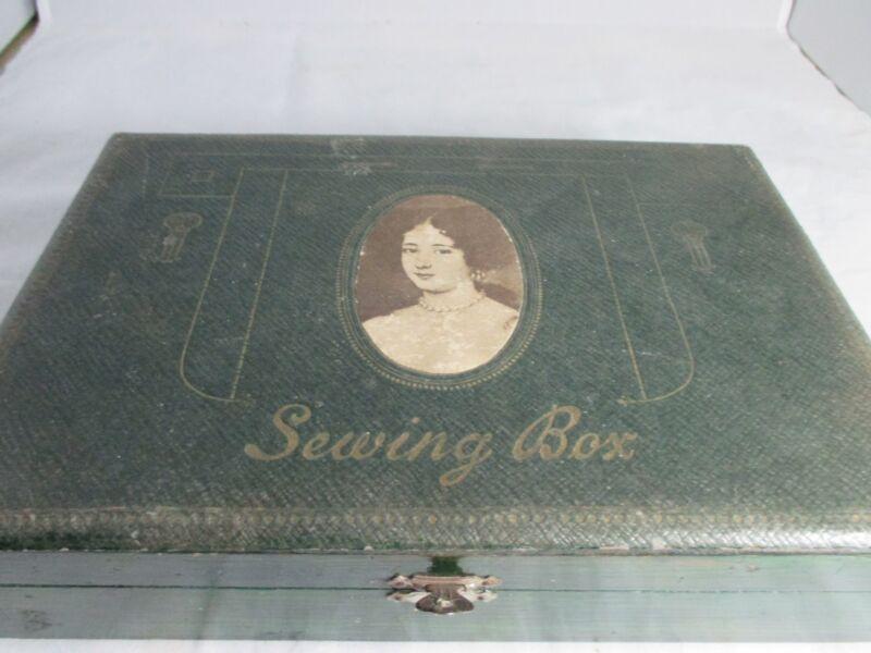 12pc mirrored NECESSAIRE  SEWING  ETUI box:Original ANTIQUE c1800