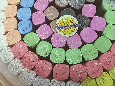 Glitter Straßenmalkreide XXL Packung - 93 Jumbo Kreiden