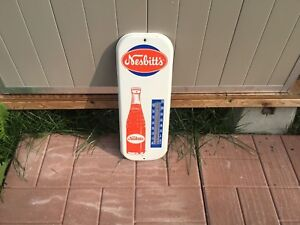Nesbitts Orange soda pop vintage thermometer signs crush