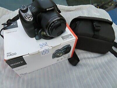 SONY CYBERSHOT DSC- H400 DIGITAL CAMERA 20.1 MP 63X LENS WITH SONY CARRY BAG