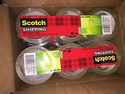 3pack 3m Scotch Sure Start Packaging Packing Tape 1.88 X 43.7 Yards Clear 3450