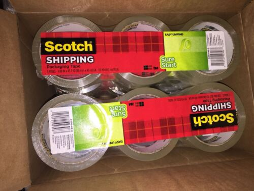 """12 ROLL 3M Scotch Sure Start SHIPPING Packing Tape 1.88"""" x 43.7 yard Clear 3450"""