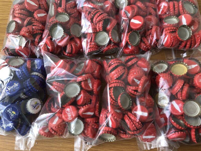 Over 800 Coke Bottle Caps used red metal Coca cola Israel Kosher Vintage 2007