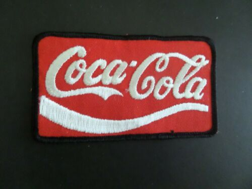 """VINTAGE COCA-COLA-COKE"""" RED & WHITE  Embroidered  Iron On Patch 2-5/8 X 4-3/4"""