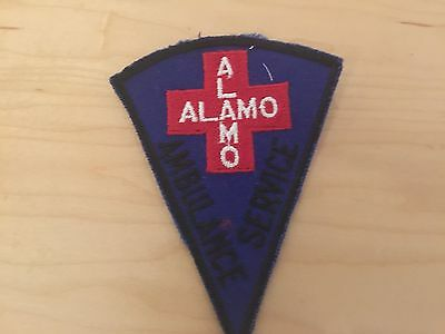 AMBULANCE SERVICE , PATCH,ALAMO ,70'S, NEW OLD STOCK,