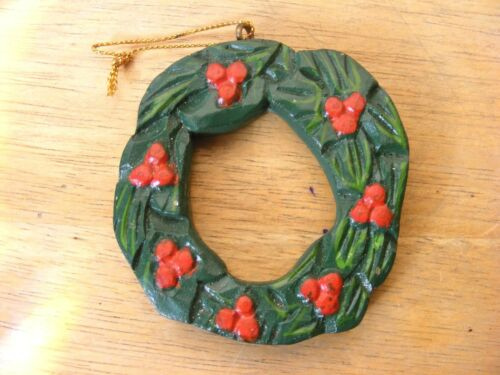 Wooden Wreath Christmas Ornament Made In Philippines Support Wildlife Rehab
