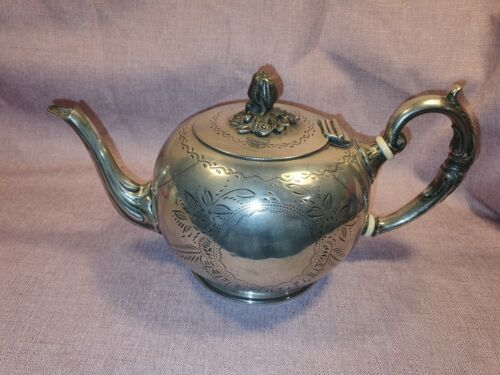 Vintage EPNS Silver Plated Teapot Round Acorn Top in Good Condition
