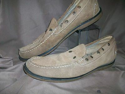 019164b04be7 (USED WORN) BASS FARREL MENS SIZE 11 D BROWN SUEDE BOAT SHOES (NO STRINGS)