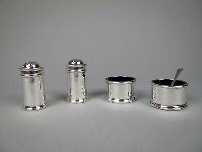 Silver 3 Piece Condiment Cruet Set