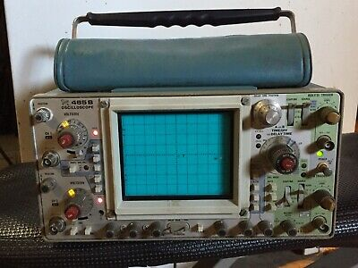 Vintage Tektronix 465b Oscilloscope With Paperwork Manuals Probes Extra Pouches