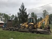 Full size backhoe for hire in the Cariboo area.