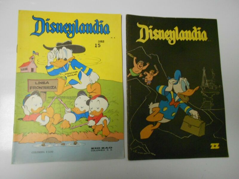 1968 DISNEYLANDIA #377 FN- 382 FN- Donald Duck DISNEY Columbia