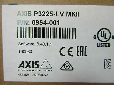 Axis 0954-001 P3225-lv Fixed Dome Network Camera 1080p Lightfinder