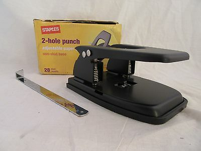 Office Depot Brand Heavy Duty 2 Hole Punch 799825 Up To 28 Sheets Nib