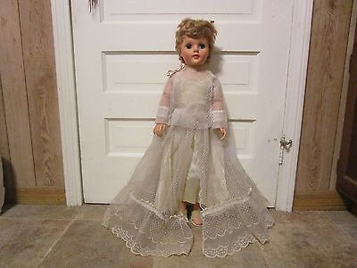 Vintage 30 Inch Eegee Doll - In Original Outfit, Knees Bend, Eyes Open & Close