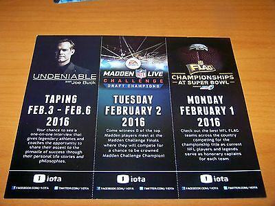 Joe Buck  Madden Live  Flag Football 2016 1 Iota Super Bowl 50 Activity Schedule