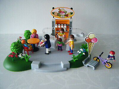 PLAYMOBIL 4134 Ice Cream Parlour figures & lots of accessories