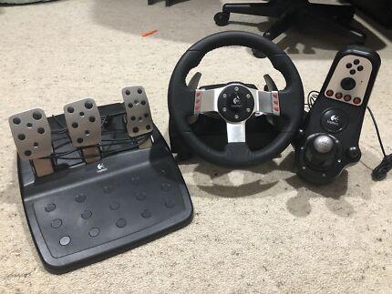 Logitech G27 Racing wheel, shifter & pedals
