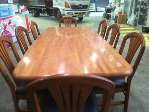 Timber Dining Table & Chairs Banksmeadow Botany Bay Area Preview