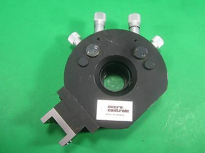 Micro Controle Optical Positioner Xy -- Used --