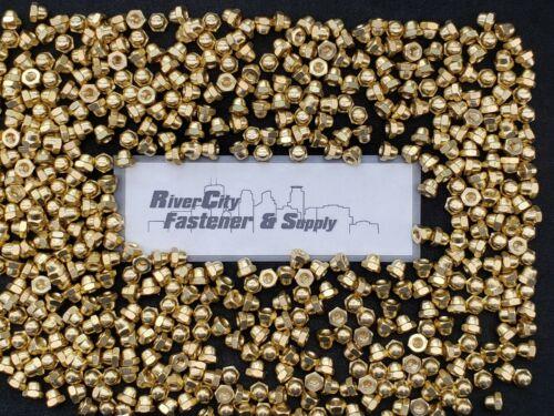(25) 10-24 Brass Acorn / Dome / Cap Hex Nut  #10 x 24 Nuts 10x24 Nut  10/24