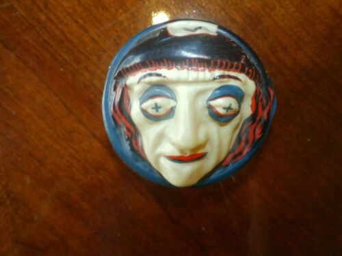 Vintage Antique Plastic Celluloid Halloween Witch Flashlight Lens Shade Cover