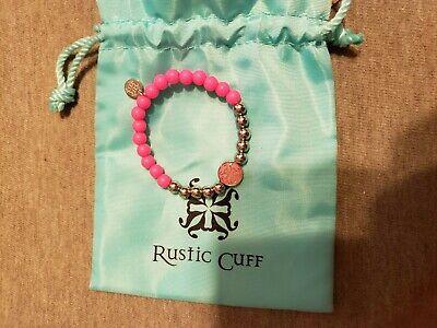Rustic Cuff Girls bracelet Neon Pink excellent condition