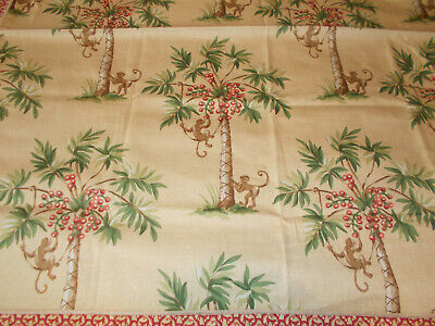"""NEW Table Cloth Topper Cover P Kaufmann Palm Springs Material 32"""" SQ"""