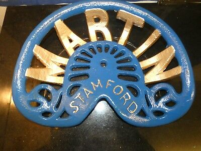 Martin Stamford Vintage Cast Iron Tractor Implement Seat Farm Collectables
