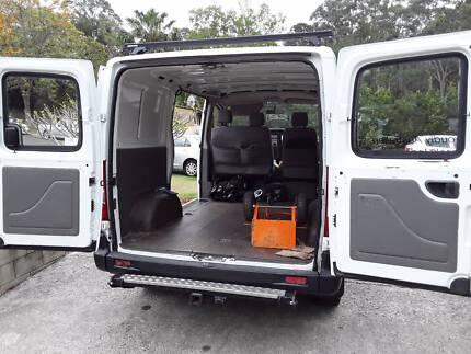 Commercial van, fits 2 pallets