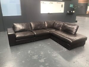 Couch. 5 seater. L-shaped. Leather