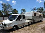 Truelux 5th Wheeler with Mercedes Sprinter Dual Cab Tug Twin turb Highland Park Gold Coast City Preview