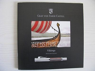 """GRAF VON FABER - CASTELL """" VIKINGS """" PEN OF THE YEAR 2017 BROCHURE"""