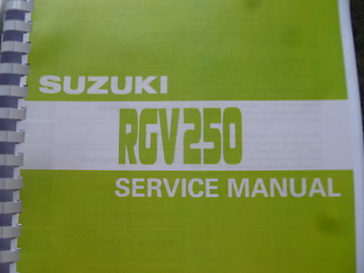 SUZUKI RGV 250 SERVICE MANUAL FOR L 90 M 91 N 92 P 93 R 94 T 96 GAMMA VJ 21 22
