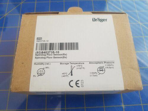 1 Drager 8403735 Spirolog Flow Sensor Transducer Evita Ventilator