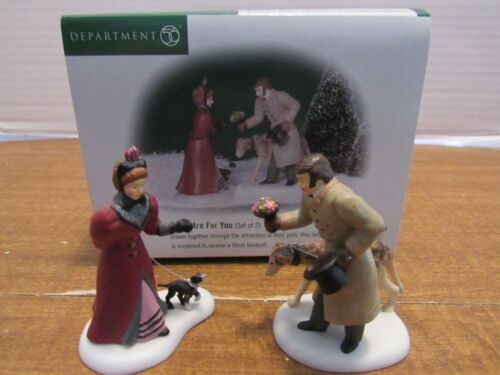 Dept. 56 Dickens Village 2000 These Are For You 2 Pcs. Couple W/Dogs