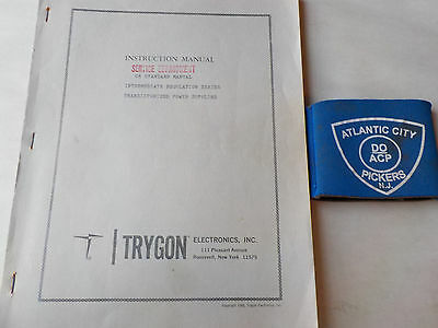 Trygon Cr Standard Manual Int Reg Series Power Supply Instruction Manual
