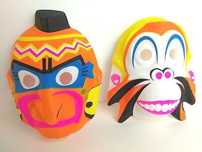 ORIGINAL Vintage El Dia De Los Muertos Mask Molded Plastic 1970s Halloween (El Dia De Los Muertos Mask)