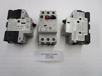 Ge Gps1bsaf 1-1.6 Amps 3 Pole 34hp Manual Motor Controller Starter