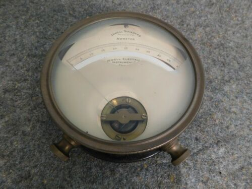 RARE Brass Jewell Electrical Ammeter Chicago